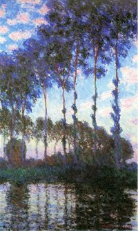 Poplars on the Banks of Epte - Claude Monet