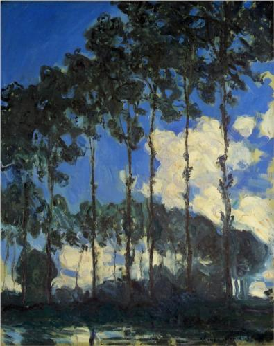 Poplars on the Banks of the Epte II - Claude Monet