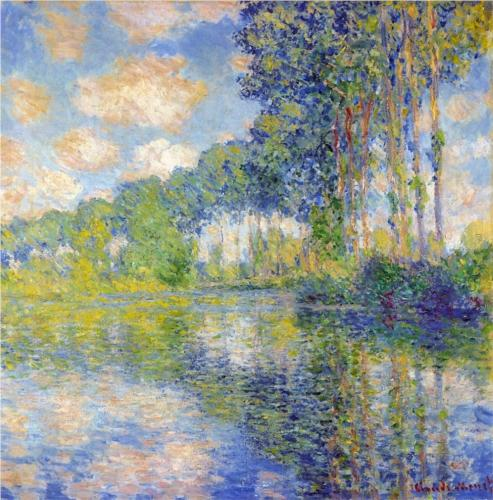 Poplars on the Epte - Claude Monet