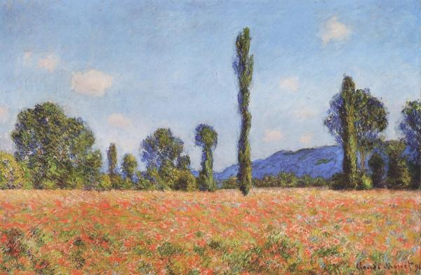 Monet Landscape Field Poppy Field at Giverny