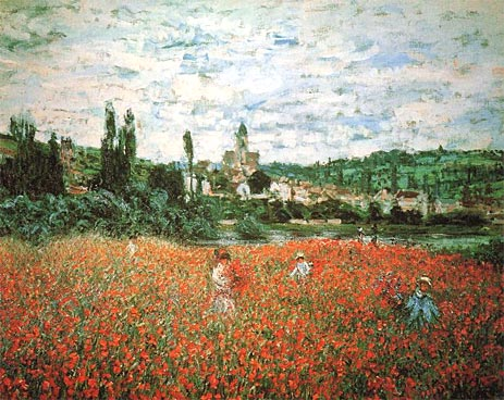 Poppy Field near Vetheuil - Claude Monet
