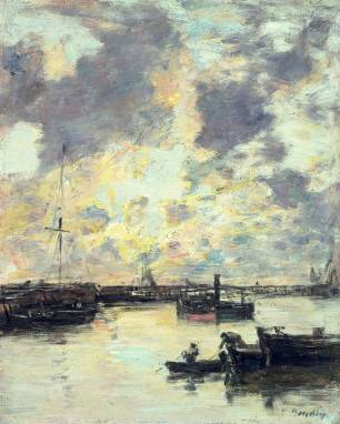 The Port 1895 - Eugene Boudin