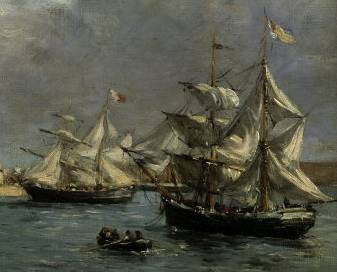 Port of Camaret 1872 - Eugene Boudin