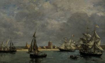 Port of Camaret - Eugene Boudin