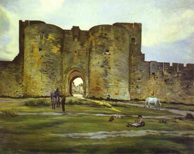 Port of the Queen at Aigues Mortes - Frederic Bazille