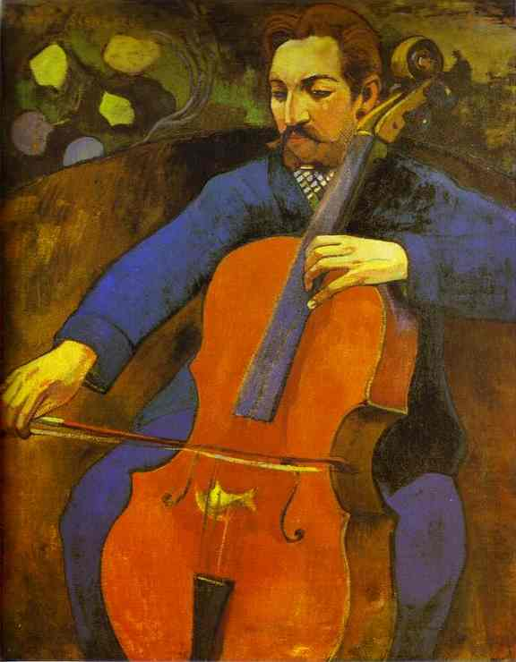 Portrait of Cellist Upaupa Scheklud - Paul Gauguin