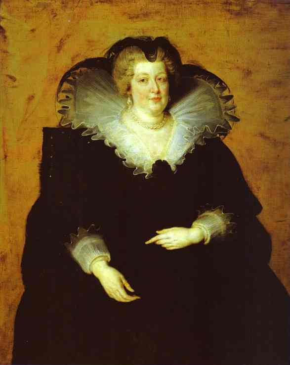 Portrait of Marie de' Medici - Peter Paul Rubens