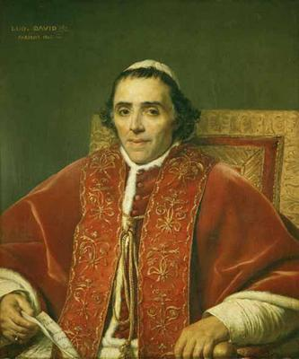 Portrait of Pope Pius VII - Jacques Louis David