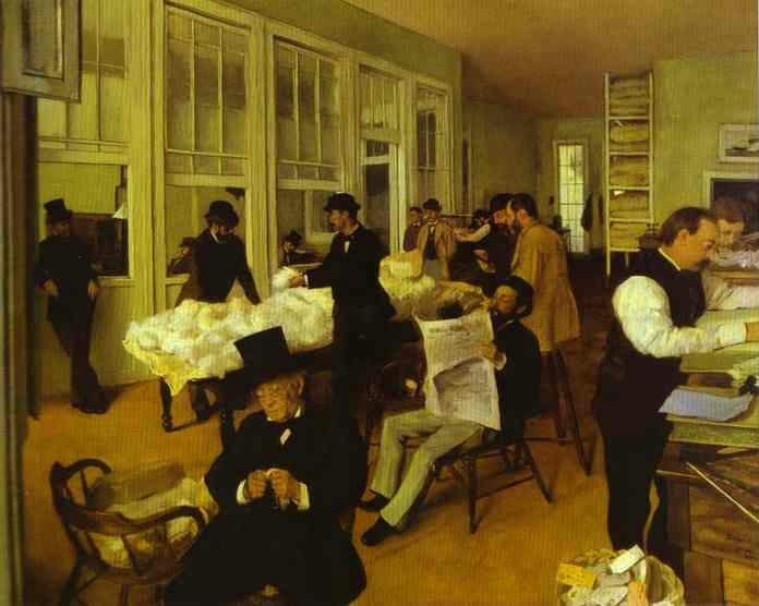 Portrait of a New Orleans Office - Edgar Degas
