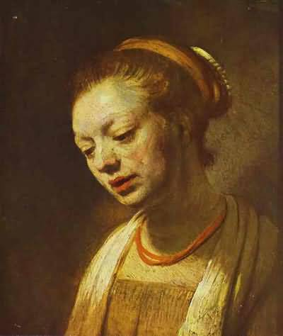 Portrait of a Young Girl - Rembrandt van Rijn