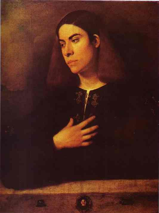 Portrait of a Young Man (Antonio Broccardo) - Giorgione (Giorgio Barbarelli da Castelfranco)