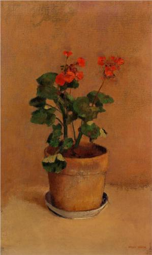 Pot of Geraniums - Odilon Redon