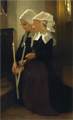 Prayer at Sainte Anne d Auray - William Adolphe Bouguereau