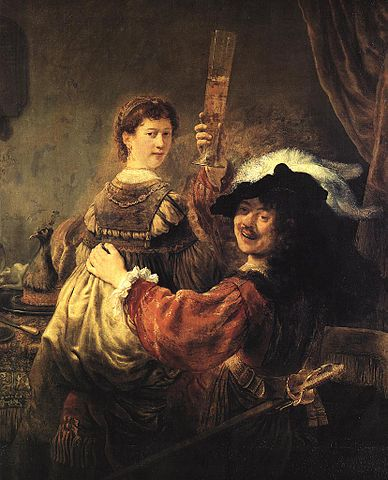 Prodigal Son in the Tavern (Rembrandt and Saskia) - Rembrandt van Rijn