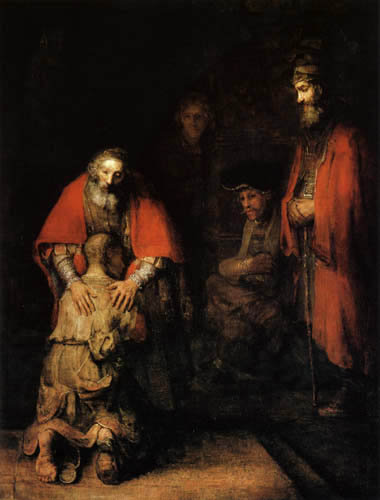 The prodigal son by Rembrandt van Rijn