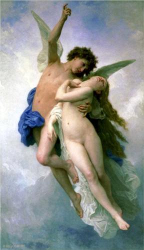 Psyche and Amour - William Adolphe Bouguereau