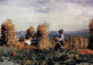 Pumpkin Patch - Winslow Homer