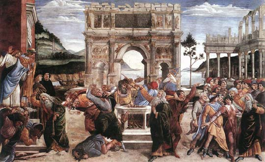 Punishment of Korah - Sandro Botticelli