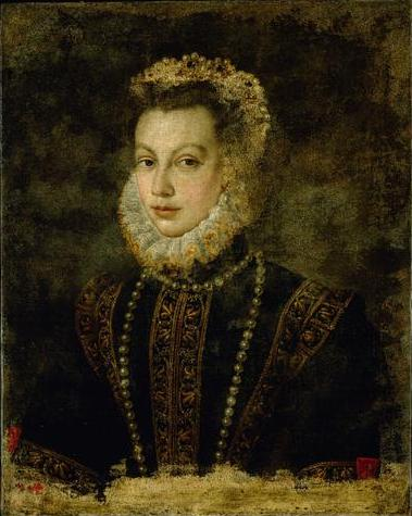Queen Elisabeth of Spain - Sofonisba Anguissola
