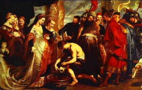 Queen Tomyris before the Head of Cyrus - Peter Paul Rubens
