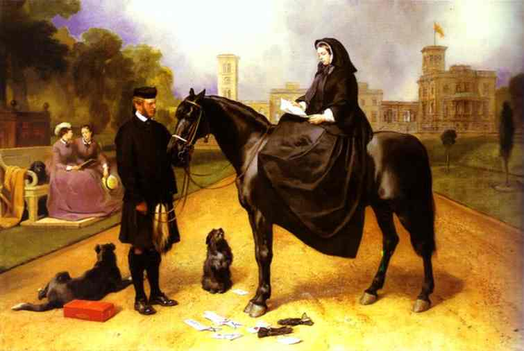 Queen Victoria at Osborne House - Edwin Henry Landseer