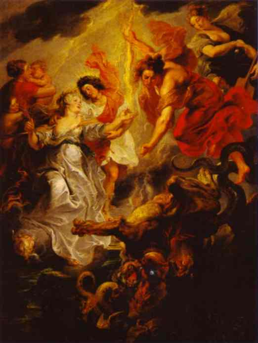 Queen's Reconciliation with Her Son - Peter Paul Rubens