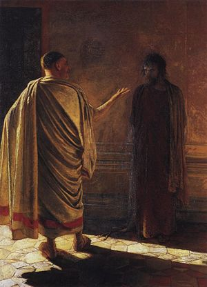 Quod Est Veritas? Christ and Pilate - Nikolay Gay