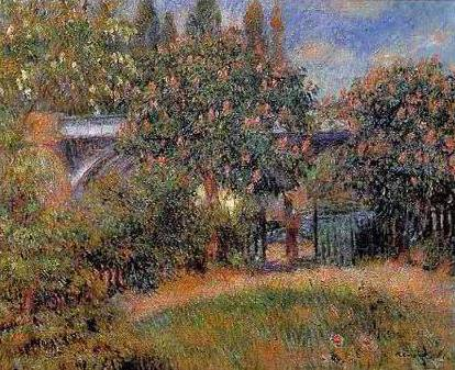 Railroad Bridge at Chatou - Pierre Auguste Renoir
