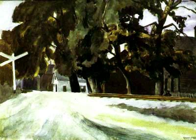 Railroad Crossing - Edward Hopper