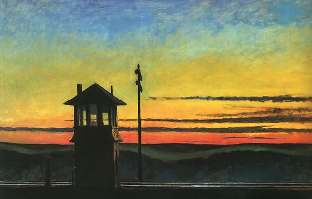 Railroad Sunset - Edward Hopper