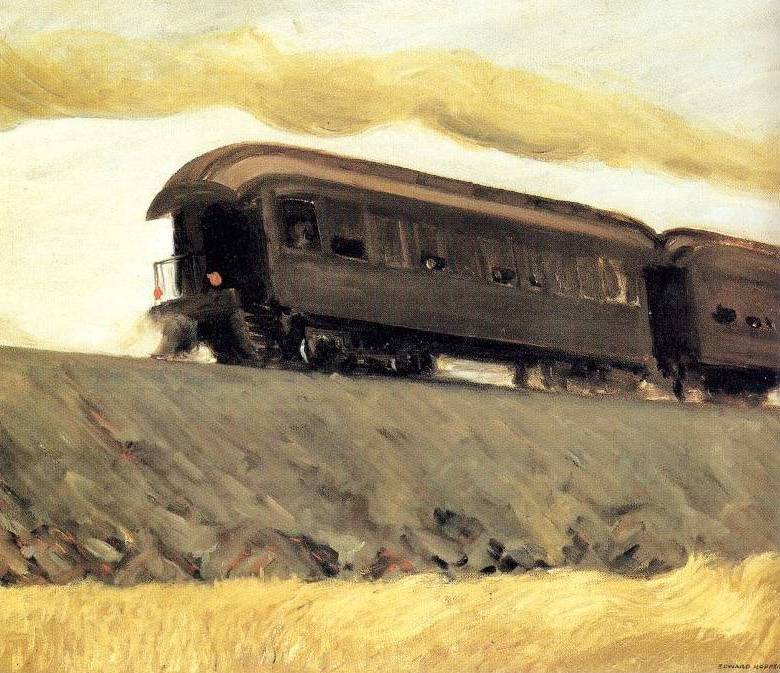 Railroad Train - Edward Hopper