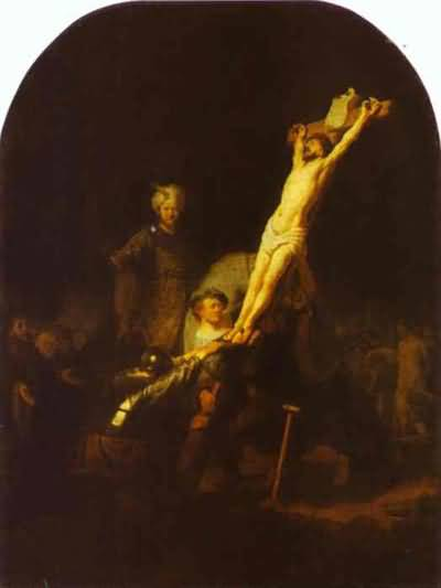Raising of the Cross - Rembrandt van Rijn