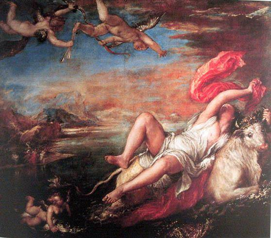 Rape of Europe 1559-1562 Tiziano Titian Vecellio