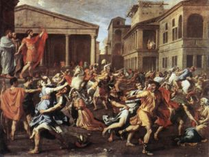 Rape of the Sabine Women - Nicolas Poussin