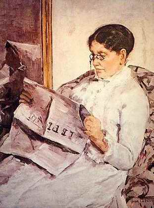Reading Le Figaro - Mary Cassatt