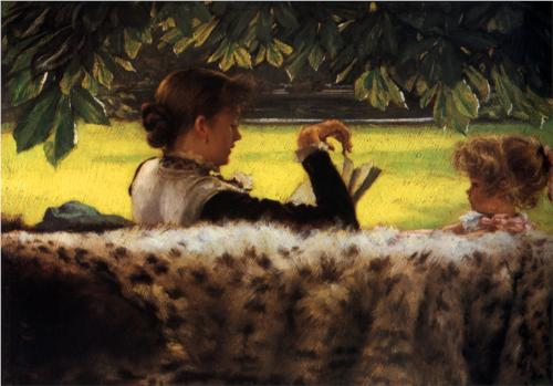 Reading a Story - James Tissot