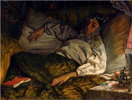 Reclining Lady - James Tissot