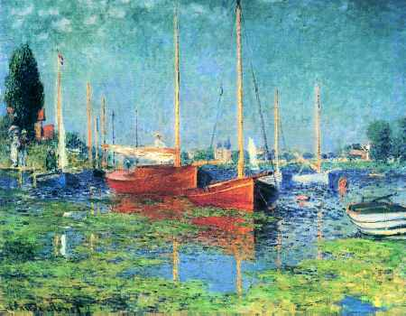 Red Boats at Argenteuil - Claude Monet