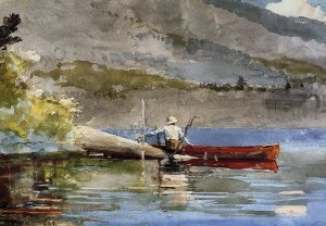 Red Canoe - Winslow Homer
