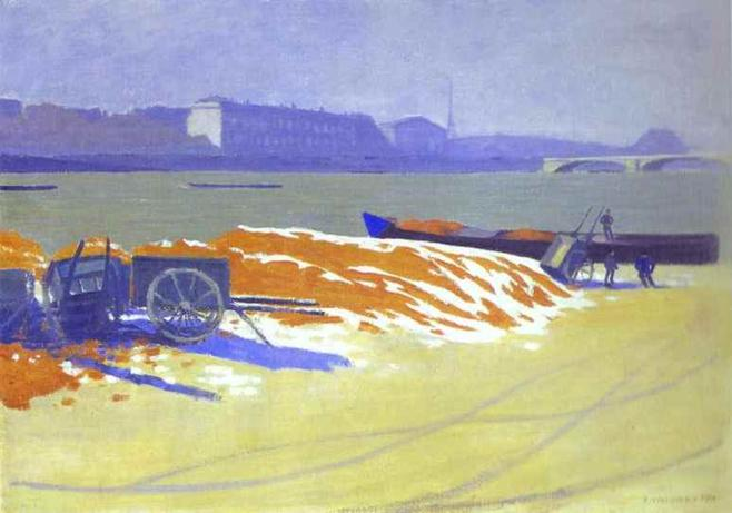 Red Sand and Snow - Felix Vallotton