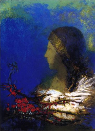 Red Thorns - Odilon Redon