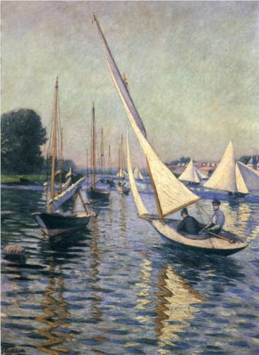 Regatta at Argenteuil - Gustave Caillebotte