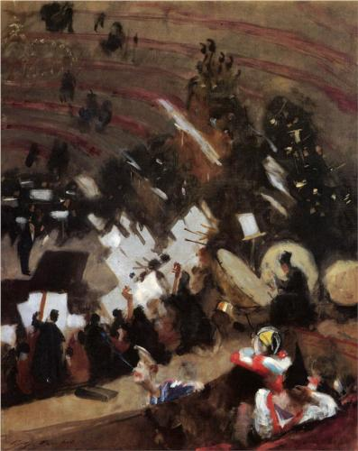 Rehearsal at the Cirque d'Hiver - John Singer Sargent