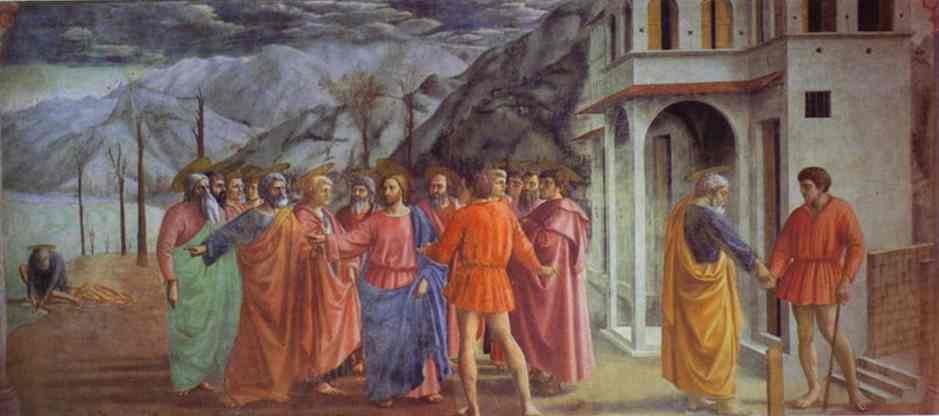 Rendering of the Tribute Money - Masaccio