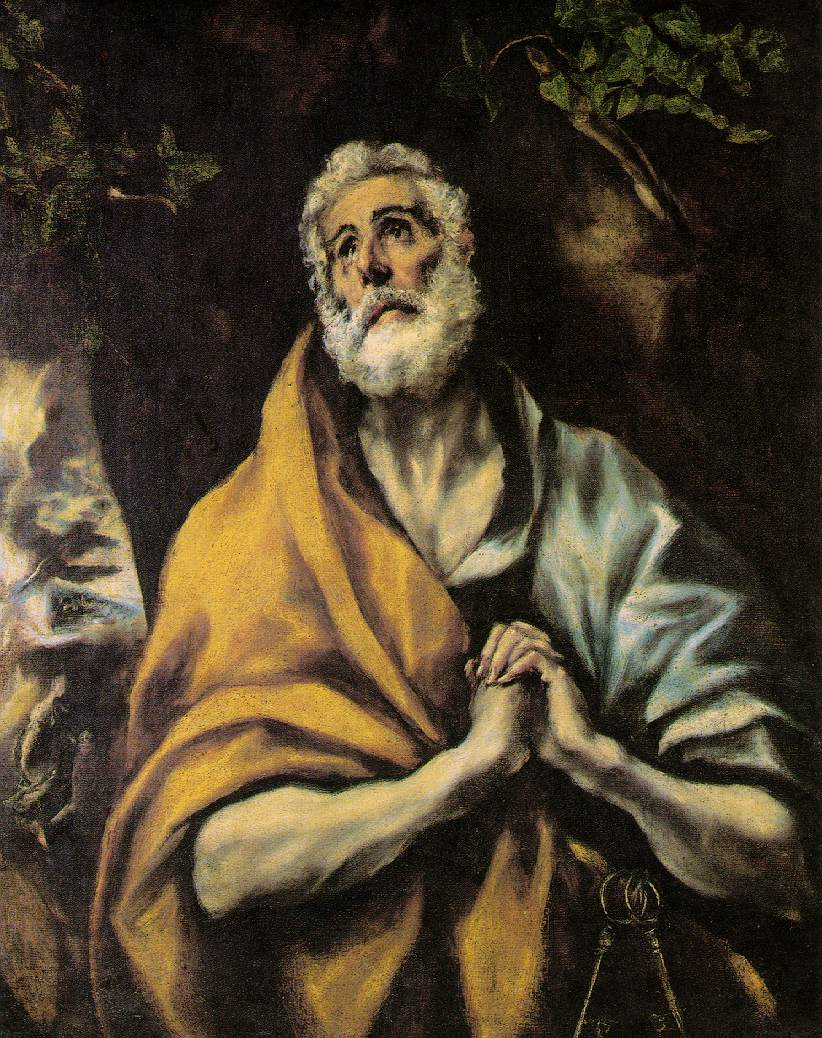 The Repentant Peter - El Greco