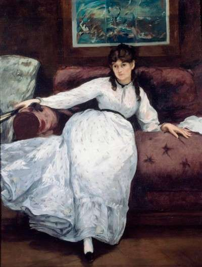 Repose of Berthe Morisot - Edouard Manet