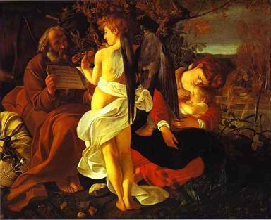 Rest on the Flight into Egypt - Caravaggio