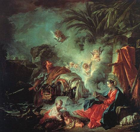 Rest on the Flight to Egypt - Francois Bouche