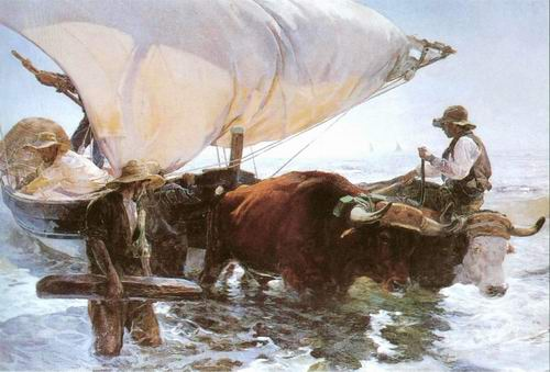 Return from Fishing - Joaquin Sorolla