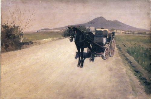 Road Near Naples - Gustave Caillebotte